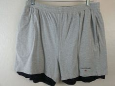 RALPH LAUREN POLO SPORT Men's Shorts XL Gray Solid Athletic Cotton Pleated EUC #RalphLauren #Athletic #ebay #RalphLauren #Athletic