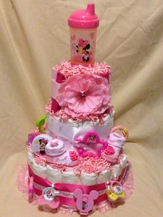 Minnie Mouse diaper cake 3 tier 50.00