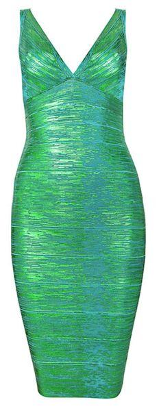 Elijah Liquid Bandage Dress - Green from www.RawGlitter.com  http://www.rawglitter.com/collections/bandage-dresses/products/elijah-liquid-bandage-dress-green