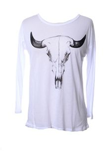 Cow Skull Top - Whit