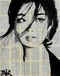 Loui Jover portrait on print