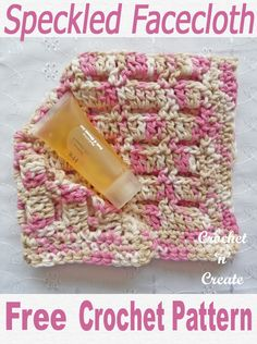 Crochet speckled facecloth, make in soft cotton yarn in many colors a free crochet pattern for a simple item to make and sell at craft fairs, bazaars etc. or use as gifts. CLICK and scroll down the page for the pattern. | #crochetfacecloth #crochetdishcloth #crochetscrubby #crochetncreate #crochet #howto #crochetpattern #freecrochetpattern #easypattern #freepattern #forbeginners #diy #crafts #crochetaddict #followforcrochet