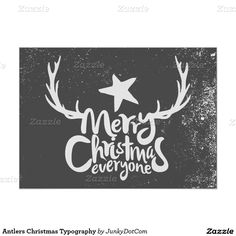 Antlers Christmas Typography Poster - Dec 1