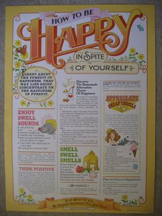 Vintage 1979 How To Be Happy In Spite Of Yourself Poster, $40.00