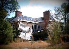Main Lodge at the abandoned Percy Rockefeller estate near Fayetteville, North Carolina