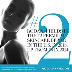 Rodan+Fields is the #2 premium skincare company in the US! Why? Because the products really work.