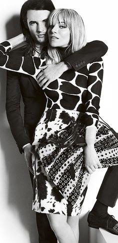 BURBERRY FW 2013-2014. M: Sienna Miller and Tom Sturridge.