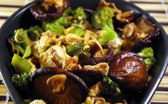 La Cuchara Verde: Tofu con setas chinas Shiitake