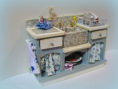 Shabby Chic Cottage Kitchen sink unit. €49.50, via Etsy.
