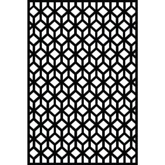 0.6 in. x 71.6 in. x 3.95 ft. Cubism Recycled Plastic Charcoal Decorative Screen (
