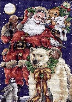 Dimensions Beloved Santa Petites Counted Cross Stitch Kit
