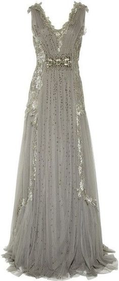 grey matter | Alberta Ferretti, I don't have anywhere to wear this to...but I want ...