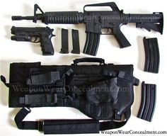 Tactical Scabbard Loaded for AK-47 & AR-15 in Black - Weapon Wear Concealment