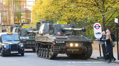 For the launch of EA's Battlefield 3, tanks were used to replace a handful of taxis in London for a couple of days