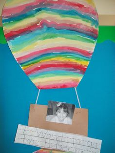 Oh, the Places You'll Go! After making the hot air balloons, have students do a writing response telling where they would like to go and why.