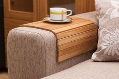 Sofa Tray Table OAK Wooden TV tray Wooden Coffee Table by LipLap