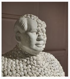 Bouke de Vries, Skull Face Mao, 2010, 20th-century Chinese porcelain bust and 21st-century bisque skulls