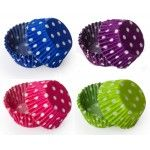 Polka Dot Cupcake Liners, Standard Size Baking Cups BULK - 500 Liners (10 Colors Available!)