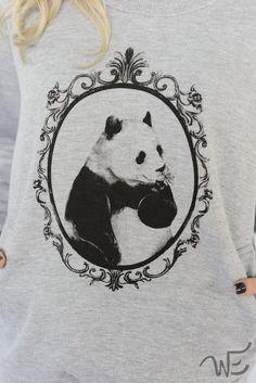 Moletom mescla Panda PB