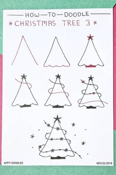 Best Bullet Journal Christmas Doodle Ideas For 2019 The ultimate colle. Best Bullet Journal Christmas Doodle Ideas For 2019 The ultimate collection of CHRISTMAS doodles for your Bullet Journal Christmas, Bullet Journal Art, Bullet Journal Ideas Pages, Bullet Journal Inspiration, Journal Prompts, Planner Journal, Journals, Christmas Doodles, Christmas Drawing