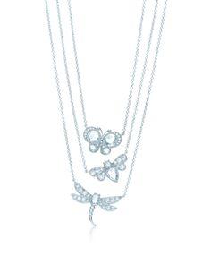 Garden Butterfly Pendants - Jewellery Tiffany