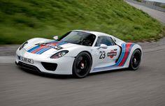 Porsche 918 Spyder in Martini Racing livery