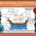 $ - Label The Mayflower.   Have your students either write in the labeling words or cut and glue the words onto the paper.  Enjoy! Regina Davis aka Queen Chaos at Fairy Tales And Fiction By 2.