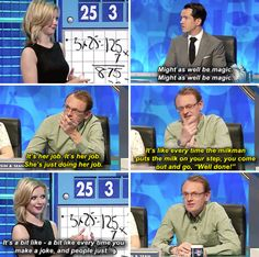 "And when Rachel slapped him down. | 34 Times ""8 Out Of 10 Cats Does Countdown"" Was Almost Too Funny"