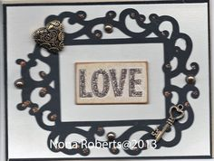 www.quwikcards.blogspot.com Stampin up paper and Fancy Frames Cartridge