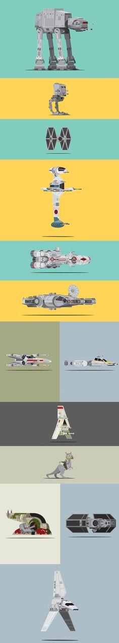 Scott Park Star Wars vehicle illustrations