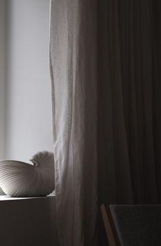 Ferm Living Shell pot - sculptural lines and shadows - Hannah Trickett