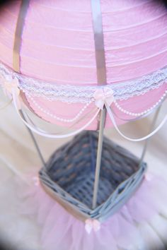 Hot Air Balloon Baby Shower centerpiece  pink and von CraftedByYudi