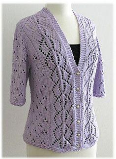 Ravelry: Orchid Top pattern by Nazanin S. Lace Knitting Patterns, Crochet Square Patterns, Crochet Cardigan Pattern, Vest Pattern, Crochet Blouse, Top Pattern, Knit Crochet, Mix Match Outfits, Pull