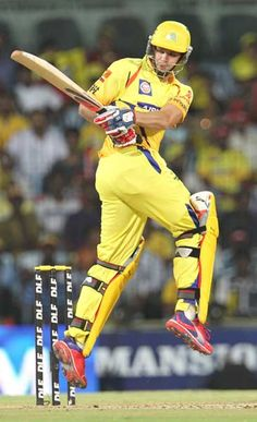 Chennai Super Kings alrounder Albie Morkel  plays a shot during the IPL Twenty20 cricket match between Chennai Super Kings and Deccan Chargers at The M.A. Chidambaram Stadium in Chennai on May 4, 2012.
