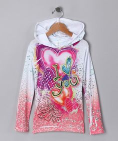 Take a look at this I Heart You Sublimation Hooded Tee - Girls  by Shades of Summer Collection on #zulily today!#fall