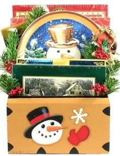 Frosty's Country Christmas (Large), Christmas Gift Basket For The Holidays - http://www.specialdaysgift.com/frostys-country-christmas-large-christmas-gift-basket-for-the-holidays/