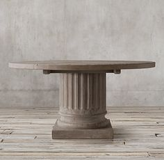 Restoration Hardware Look Alikes: Save 566.00 Vs Restoration Hardware  Pedestal Salvaged Wood Side Table | Restoration Hardware Look Alikes |  Pinterest ...