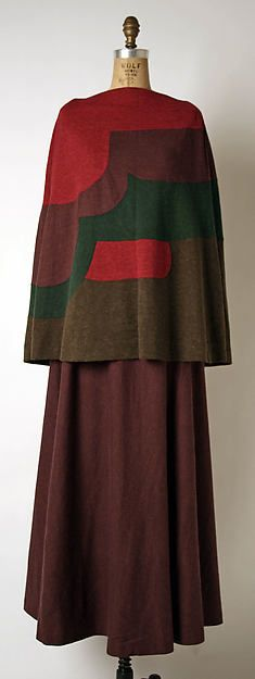 Evening ensemble Designer- Madame Grès (Alix Barton)Date- ca. 1971 Culture- French Medium- wool, silk/ front