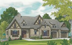 ePlans French Country House Plan – French Country Luxury – 2765 Square Feet and 3 Bedrooms from ePlans – House Plan Code HWEPL76977