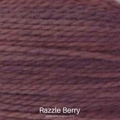 A ColourSpun Pure Cotton yarn and embroidery thread colour swatch. This colour is called Razzle Berry Colour Swatches, Super Chunky Yarn, Fabric Yarn, Embroidery Thread, Fabric Design, Berry, Weaving, Cotton, Closure Weave