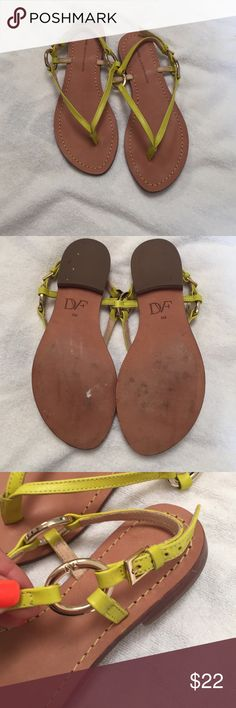 Dianne Von Furstenburg green sandals DVF. worn once. Super cute!! Diane von Furstenberg Shoes Sandals