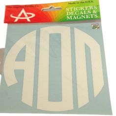 Alpha Omicron Pi Sorority Monogram Car Decal - Brothers and Sisters' Greek Store