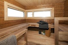 Lakka Kivitalo Kaj Stenvall - Ulkosauna | Asuntomessut Corner Desk, Loft, Inspiration, Furniture, Saunas, Finland, Design, Home Decor, Favorite Things
