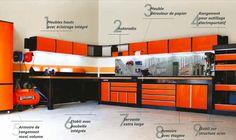 Armoires, établis, servantes, casier a vis, ... un agencement complet ! - TRM Garage