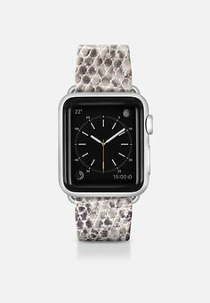 Faux python snake skin grey - Printed (no relief) Apple Watch Band (38mm) by WAMDESIGN | Casetify