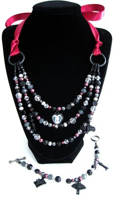 Jane Austen Collection: Romantic Burgundy/Wine and by HuntJewelz