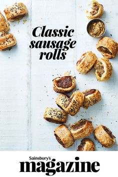 Spice up some sausagemeat and grab a sheet of puff pastry for these quick and easy, classic sausage rolls. A picnic favourite and a great party snack Pork Recipes, Baking Recipes, Recipies, Party Snacks For Adults Appetizers, Homemade Sausage Rolls, Marinated Pork Chops, Diy Cake Topper, Baking Party, Roast Dinner