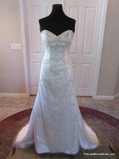 Stella York 6012 - The Last Minute Bride  Designer: Stella York  Style: 6012  Silhouette: Fit -To- Flare  Neckline: Sweetheart (Strapless)  Waistline: No Waist/Princess Seams  Sleeve Style: Strapless  Dress Length: Floor Length
