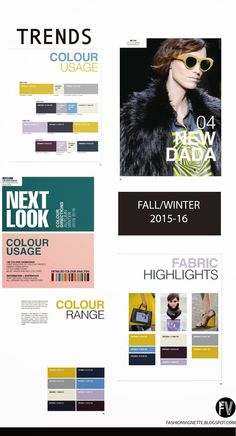 FASHION VIGNETTE: TRENDS // NEXT LOOK - COLOR DIRECTIONS A/W 2015-16