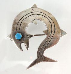 Vintage Peru Modernist G Laffi Sterling Silver Fish Brooch | eBay